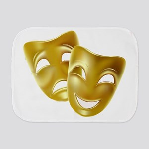 Masks of Comedy and Tragedy Burp Cloth